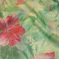 Green Hawaiian Print w/ Pink